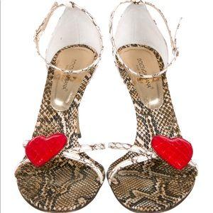 Dolce Gabbana Snakeskin Sandals